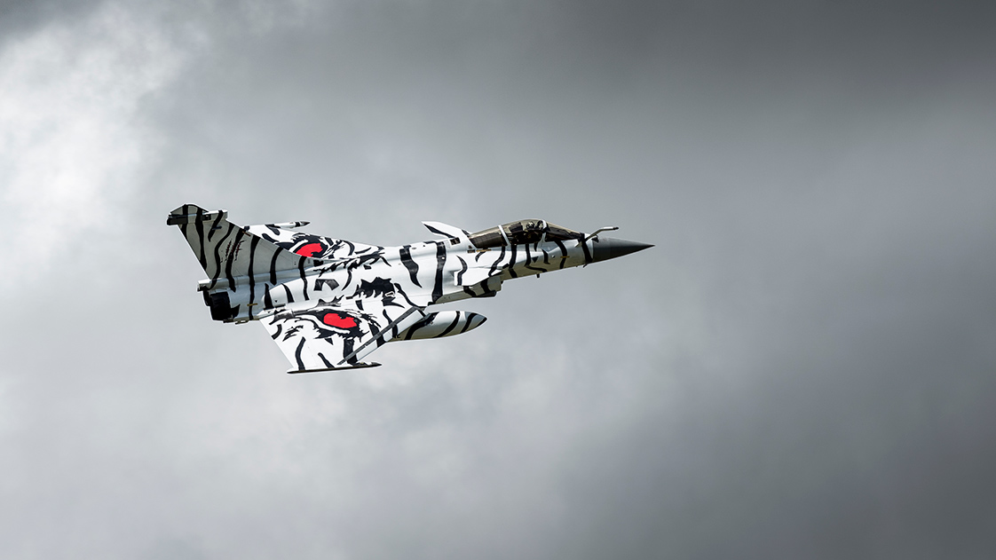 Photographie d'un avion à la Tiger Meet en Bretagne