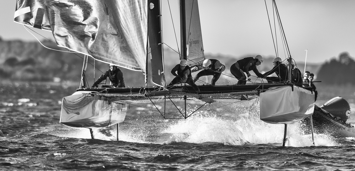 Voilier en course - Photographies en mer