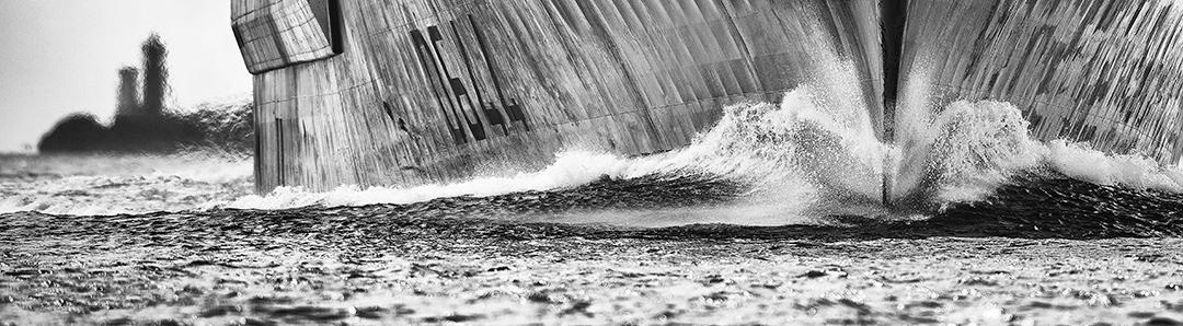 Photographies bateaux en noir et blanc