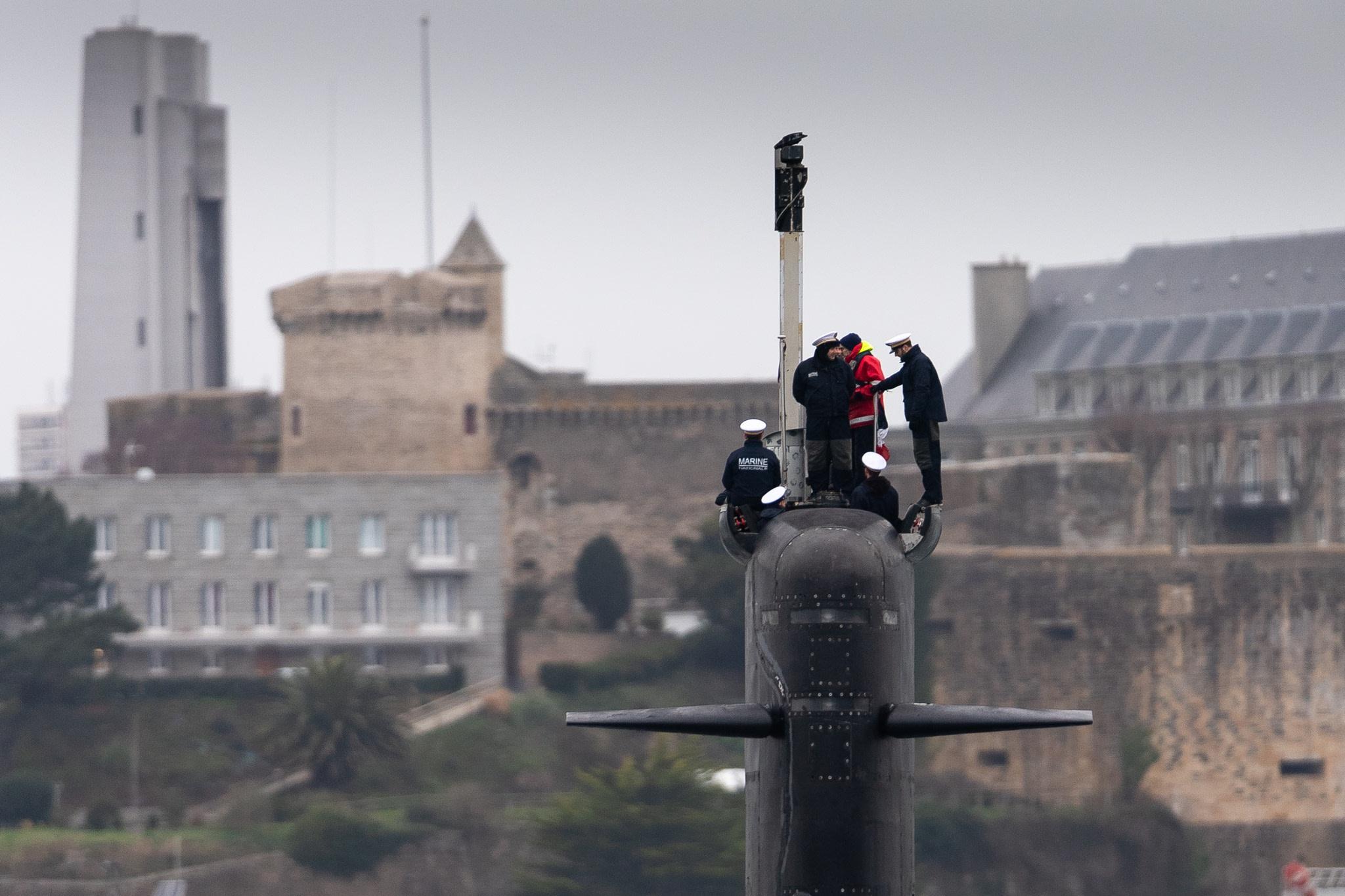 Photographie de sous-marin à Brest ND55544